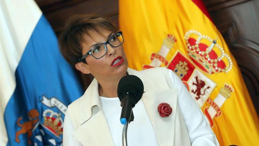 La delegada del Gobierno en Canarias, Elena Máñez. EFE/Elvira Urquijo A.