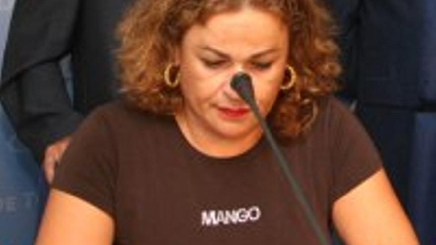 María del Carmen Castellano, con la camiseta que más nos gusta.