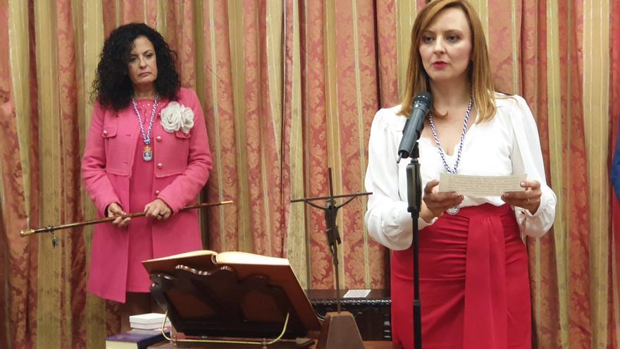 Nieves Lady Barreto este lunes durante su juramento.
