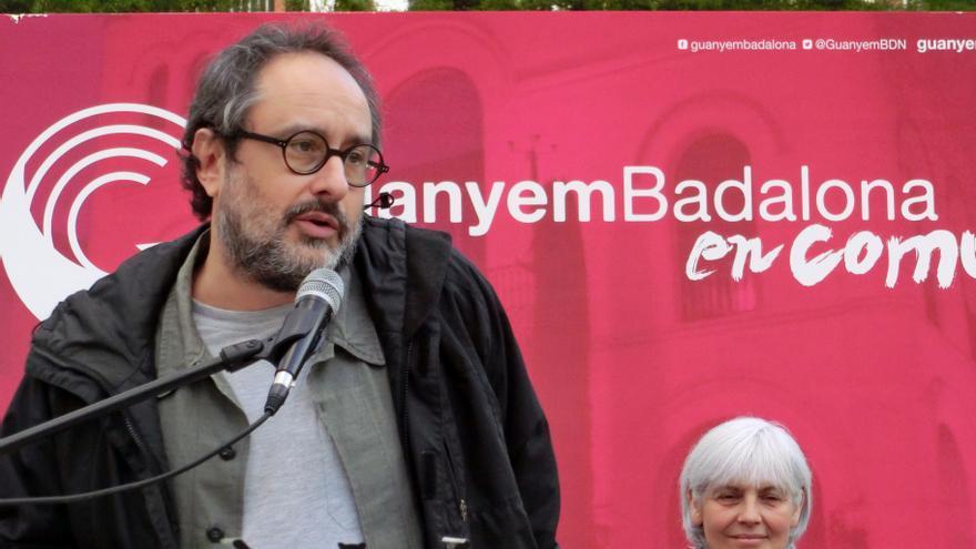 Antonio Baños, durante la presentación de Guanyem Badalona en Comú