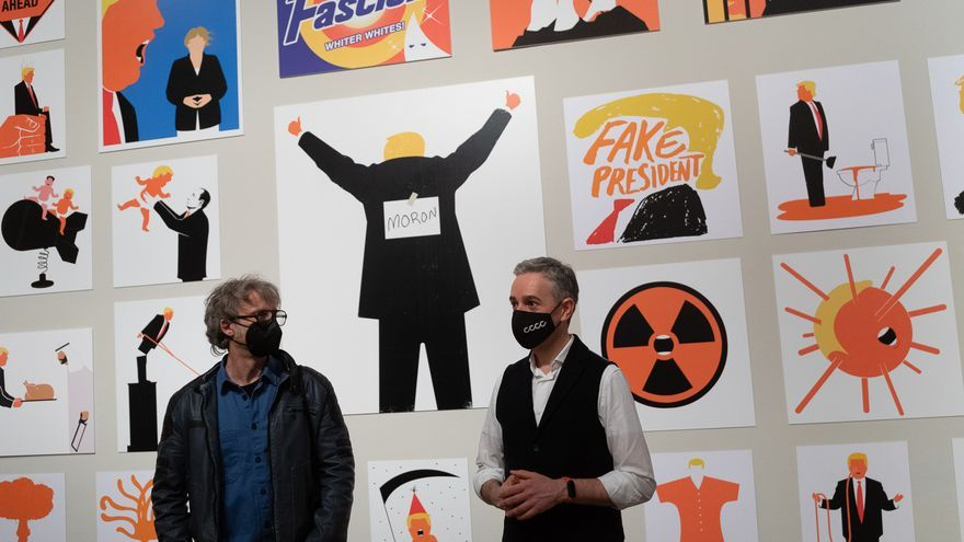 La exposición 'Agente naranja', de Edel Rodríguez, en el CCCC.