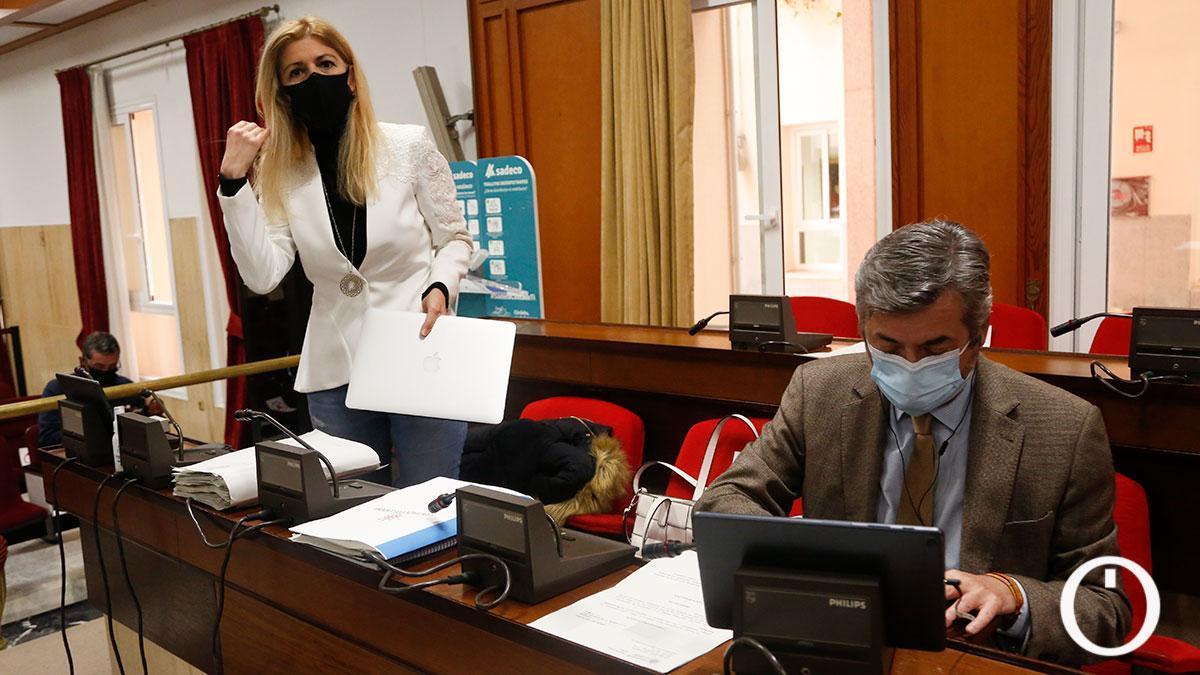 Lourdes Morales, que ha comparecido en el Pleno del Ayuntamiento para dar cuenta de su gestión en Transofrmación Digital.
