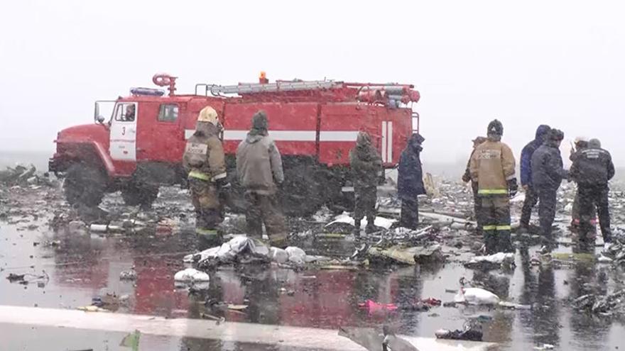 Mueren 62 personas, entre ellos dos españoles, al estrellarse un avión en el sur de Rusia | Fuente: mchs.gov.ru