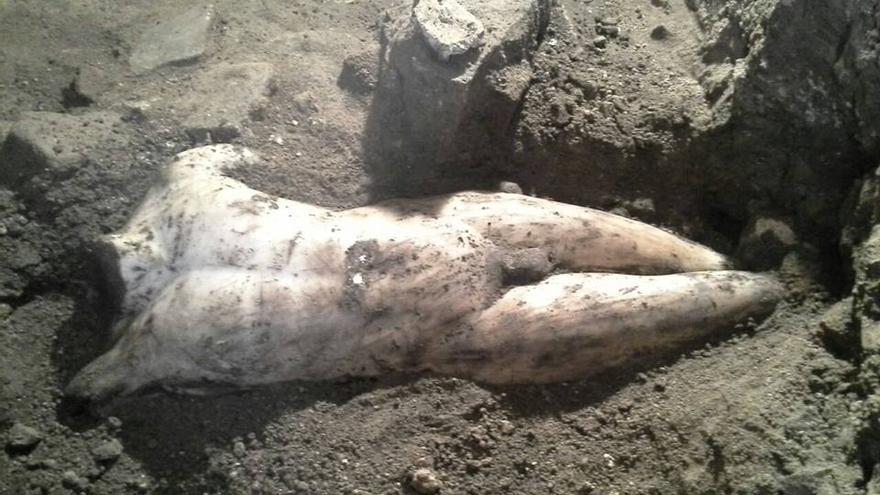 Estatua romana hallada en el subsuelo de Toledo