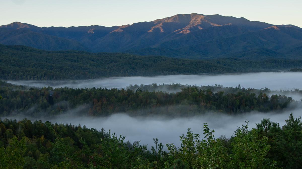 La niebla cubre los valles de las Smoky Mountains.