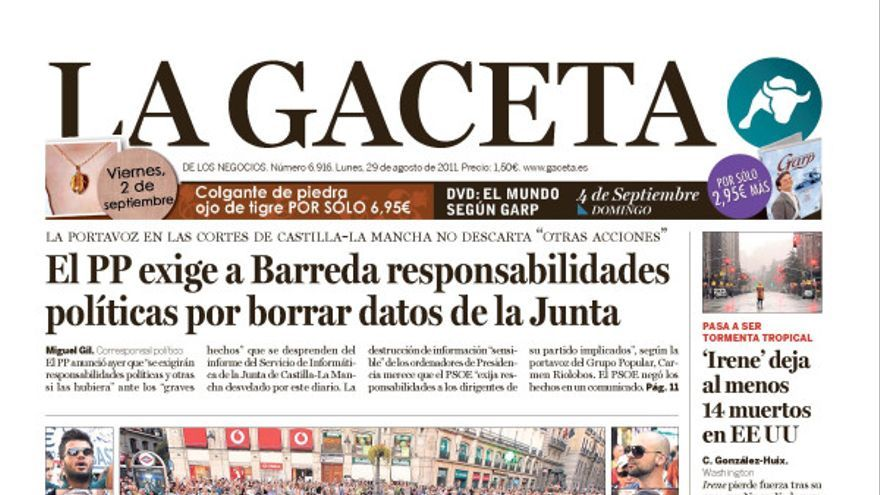 La Gaceta, 29 de agosto de 2011