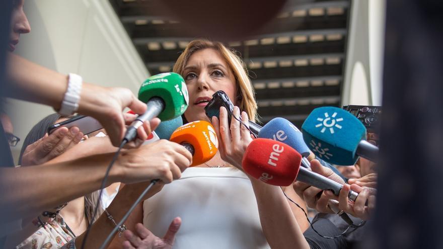 """Susana Díaz asegura que """"no tiene información"""" sobre la propuesta de Sánchez de formar un gobierno alternativo"""