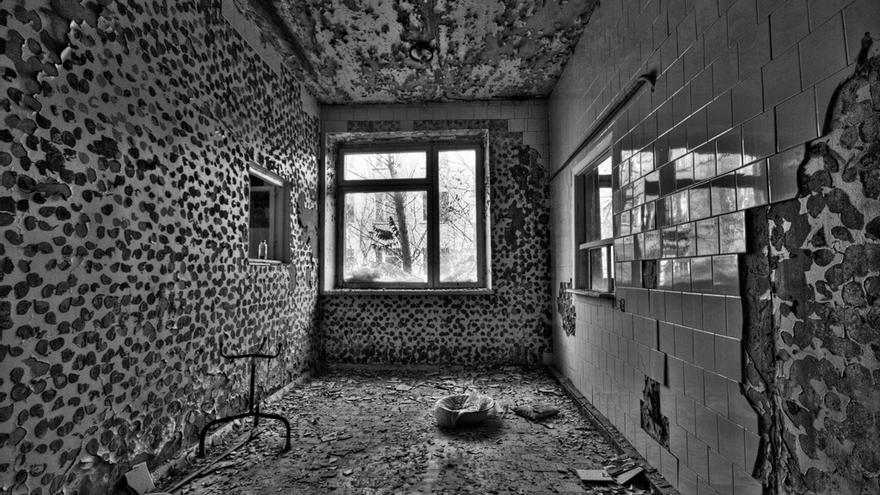 Los restos de un hospital en Prípiat