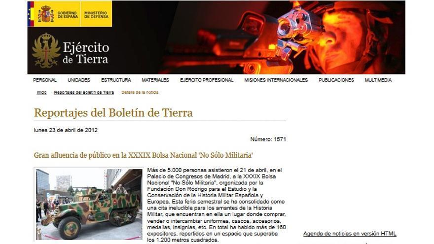 """Min. Defensa Repor Feria """"No Solo Militaria"""""""