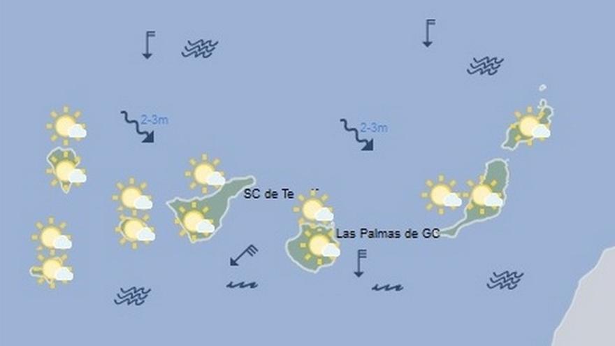 El tiempo en Canarias para este jueves, 6 de abril