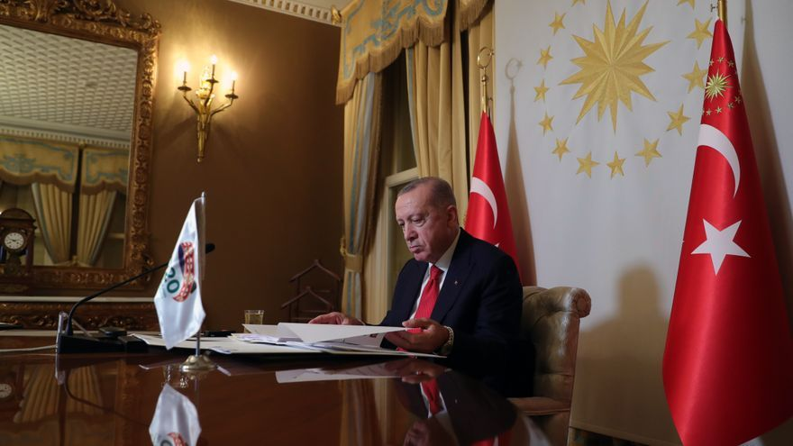 Erdogan pide al G20 esfuerzos para hacer accesible la vacuna de la covid a todos