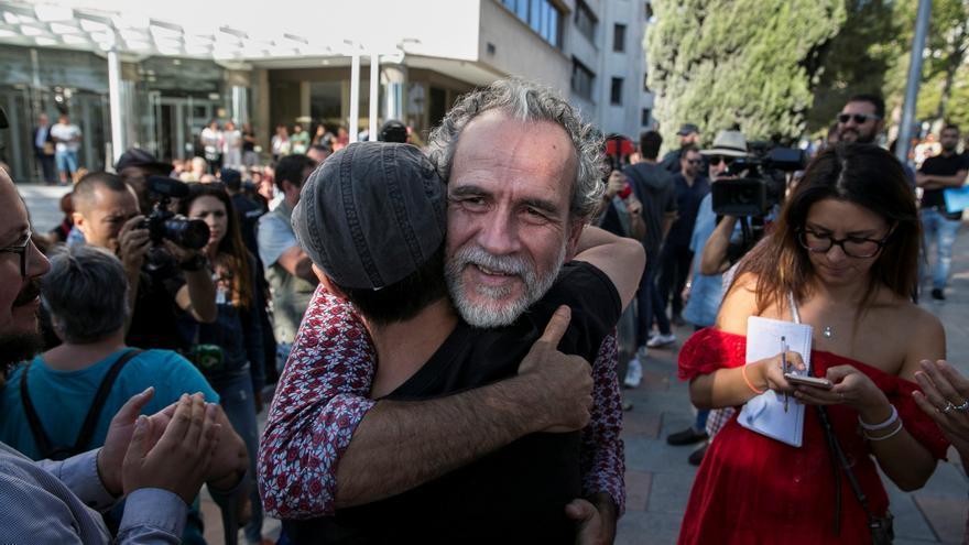 Willy Toledo, tras declarar este jueves ante el juzgado de instrucción número 11 de Madrid