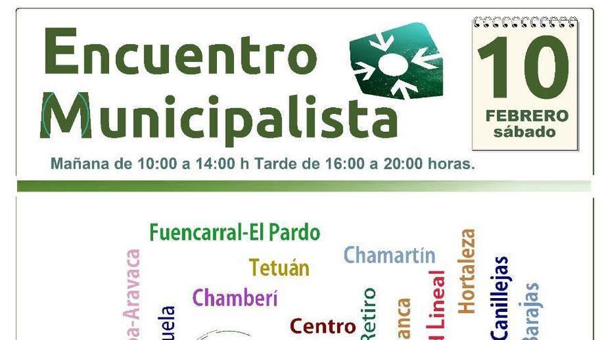 Cartel encuentro municipalista.