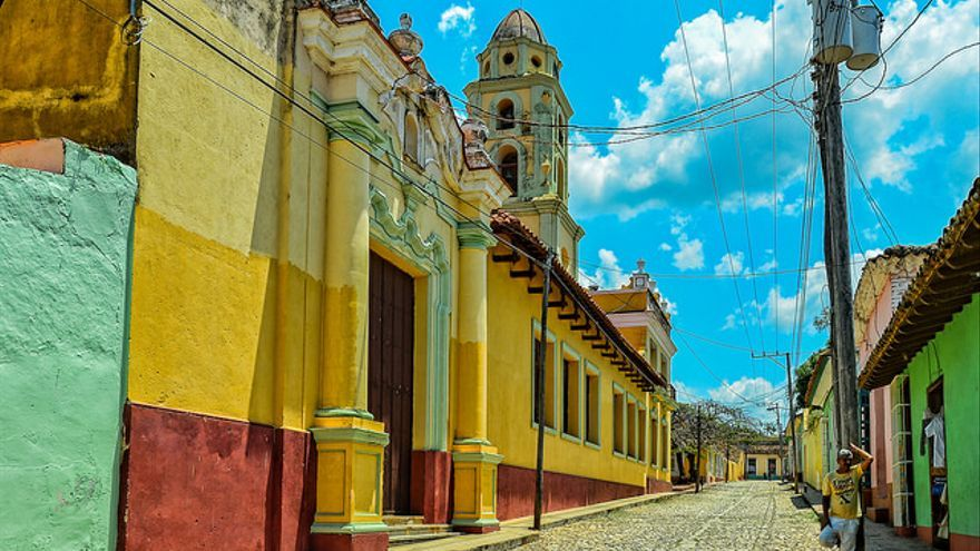Un nodo de Internet en la ciudad de Trinidad, Cuba