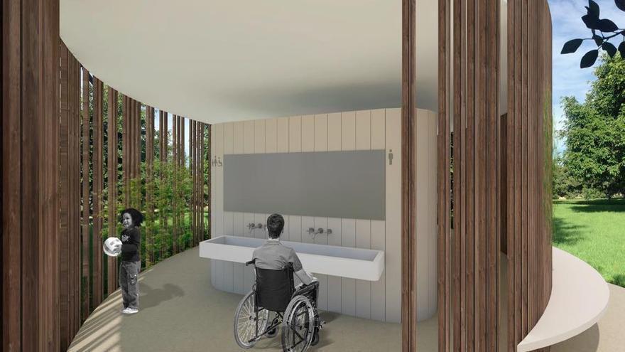 Figuración virtual de los futuros baños