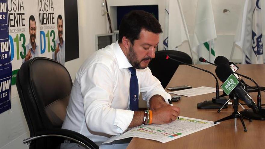 Salvini se presenta como candidato a presidente y promete más poder a Policía