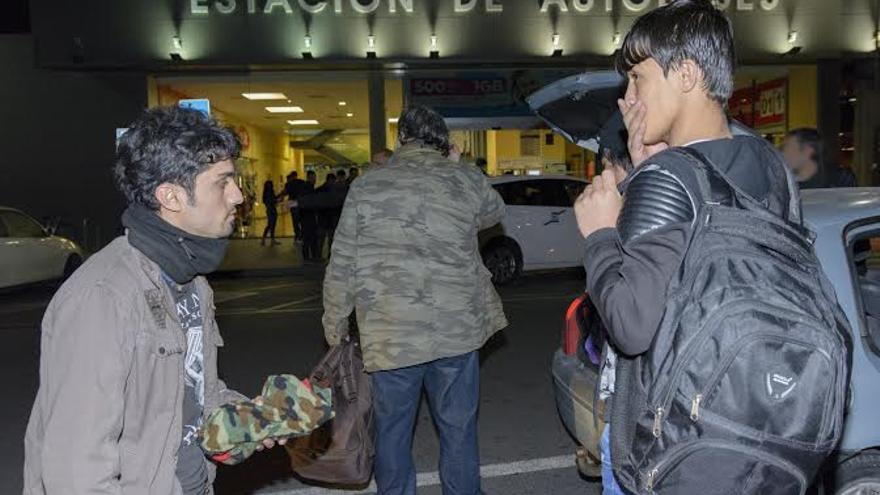 Llegada de los refugiados a la Estación de Autobuses de Alicante