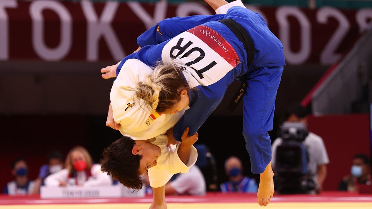 Julia Figueroa, en su primer combate en Tokio