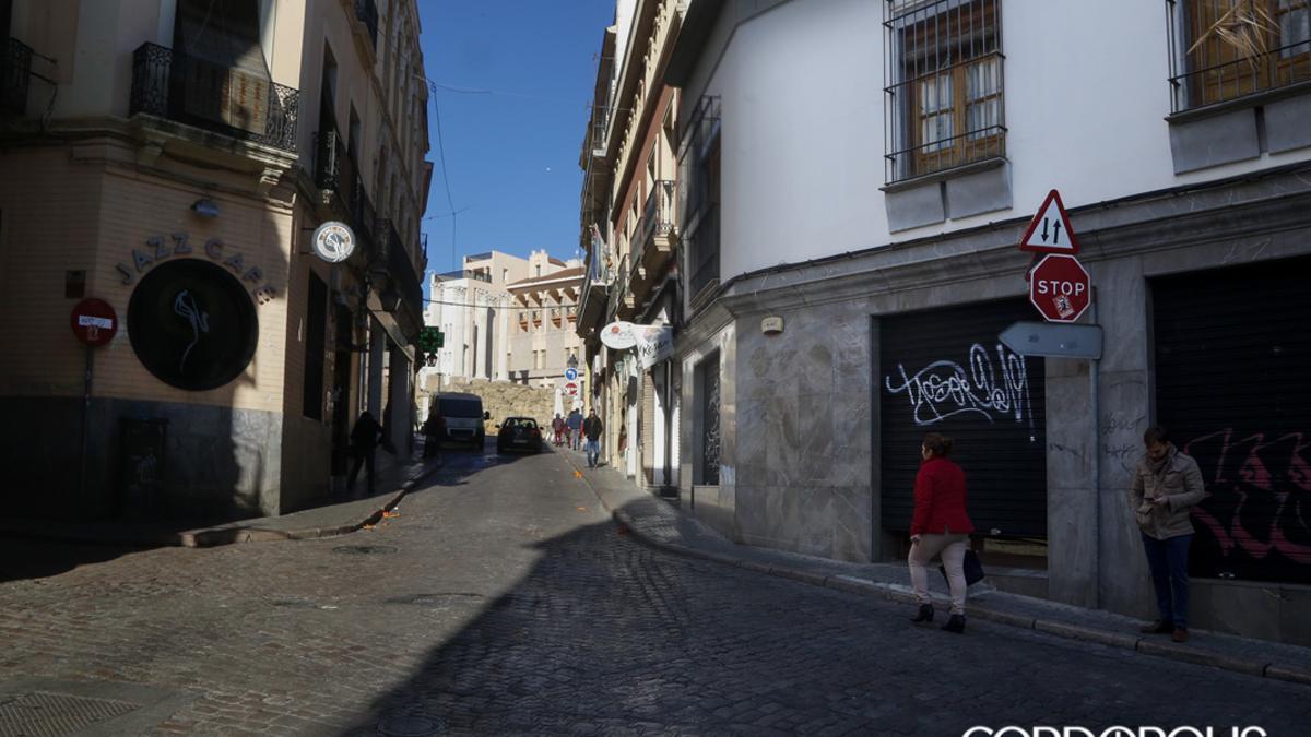 Entrada a la calle Pedro López desde la Espartería