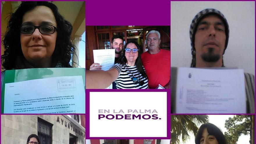 Podemos ha presentado la iniciativa en los ayuntamientos de Breña Baja, Mazo, El Paso, Barlovento, Santa Cruz, Puntallana, Tazacorte y Los Sauces y en el Cabildo. Imagen facilitada por Podemos La Palma.