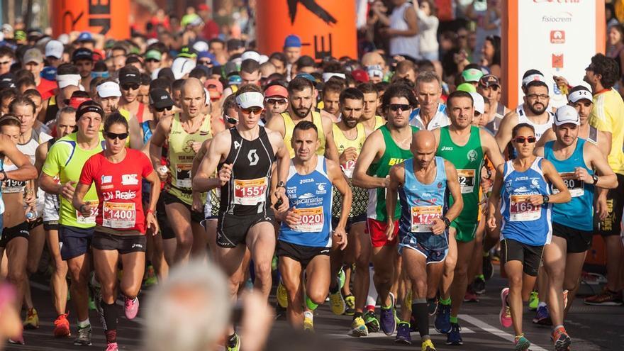 Salida del Maratón de Tenerife 2015