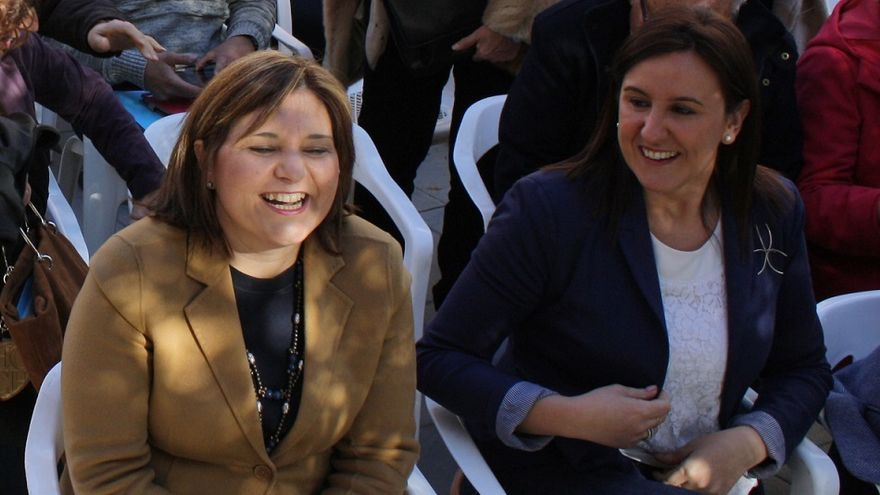 Isabel Bonig y María José Catalá en un acto del PP
