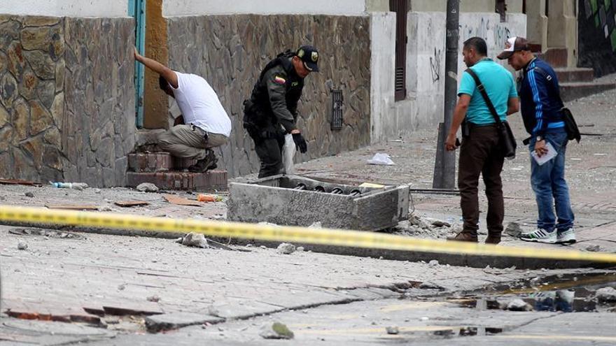 La explosión de una granada en un barrio de Bogotá deja siete heridos
