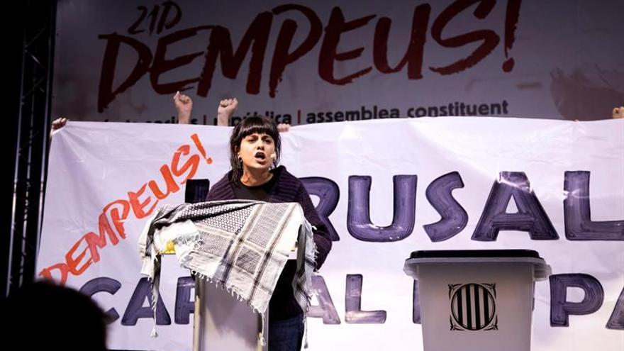 Anna Gabriel participa en un acto de la izquierda independentista