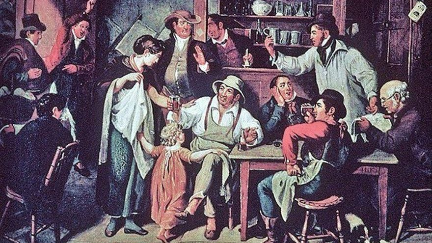 La taberna del pueblo. John Lewis Krimmel (siglo XIX).