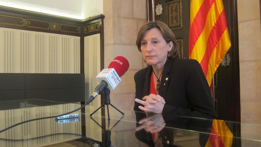 Forcadell cree que el pleno del Parlamento de Cataluña podría abordar ya la primera ley de desconexión