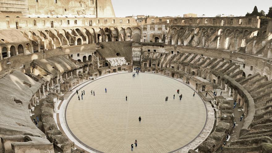 """El Coliseo de Roma reconstruirá una """"arena"""" móvil y tecnológica antes de 2023"""