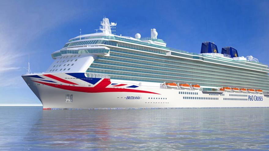 En la imagen, el crucero Britannia, que atraca en la capital el sábado.