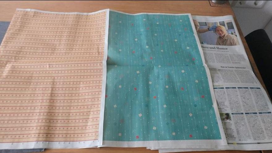 Papel de regalo en los periódicos
