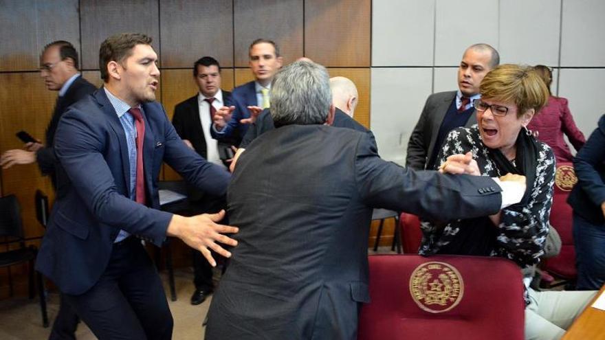 Resultado de imagen para Senador embiste a puñetazos a legislador en nueva gresca en Senado paraguayo