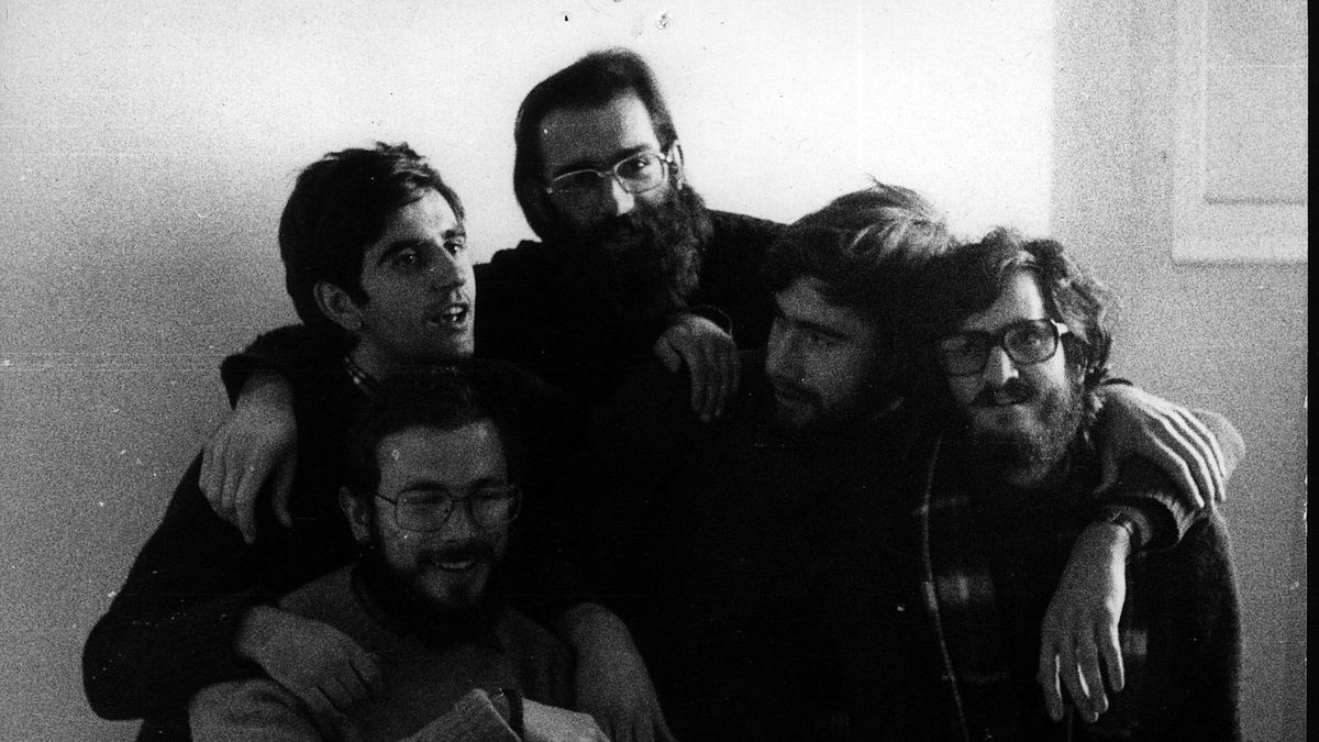 Los objetores de Can Serra, en una imagen de 1975.