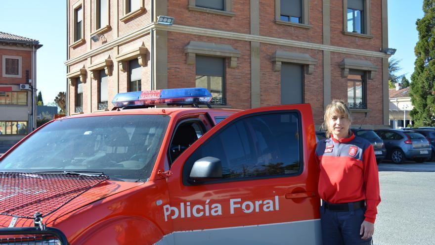 La inspectora de la brigada asistencial de la Policía Foral, Cristina Eseverri