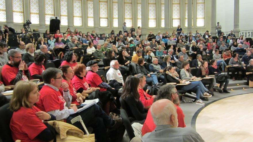 El Parlamento Ciudadano debate sobre el futuro de la sanidad. / Enric Feliu