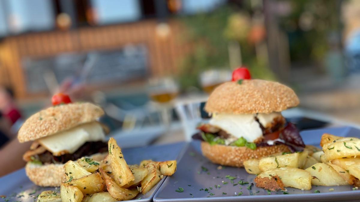 Imagen de una hamburguesa.