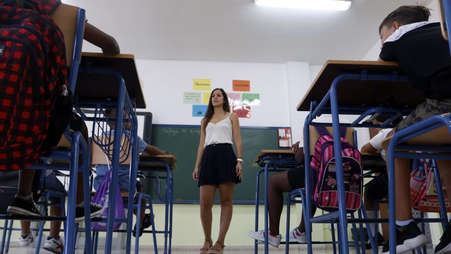 Aula del del colegio de Educación Infantil y Primaria 'Manuel Altolaguirre' de Málaga, en la apertura del curso escolar, foto de archivo