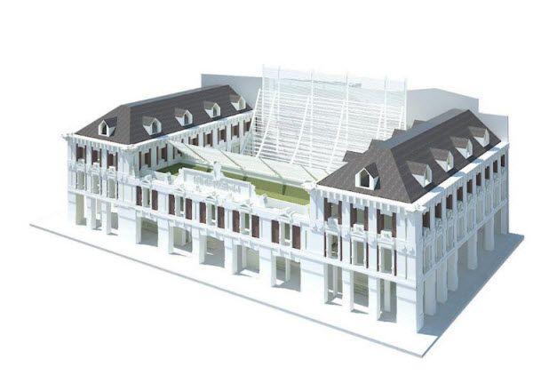 Aspecto del edificio proyectado, con su terraza como protagonista   BespokeHousing