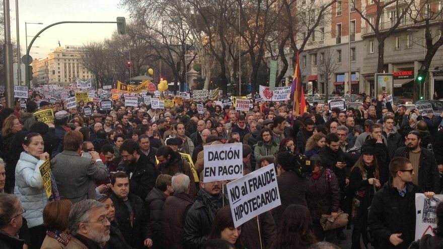 Manifestación contra los desahucios en Madrid / Foto: PAH Madrid