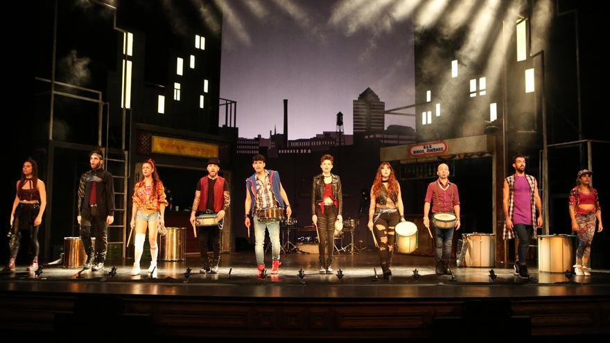 El grupo de danza y percusión nacido en Israel Mayumana en el Teatro Pérez Galdós de Las Palmas de Gran Canaria.
