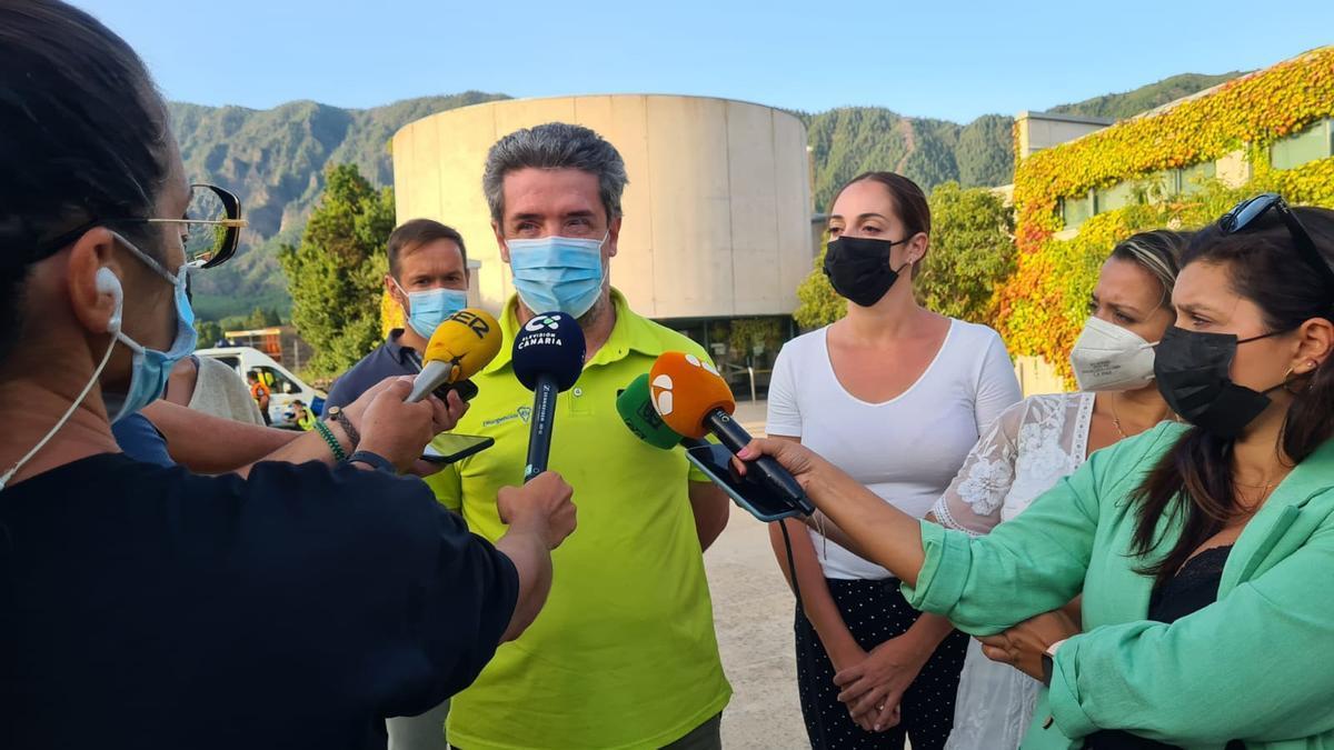 Rafael García en la rueda de prensa ofrecida en la tarde de este martes.