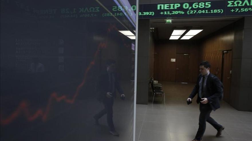 El índice de la Bolsa de Atenas baja un leve 0,26 % en los primeros compases
