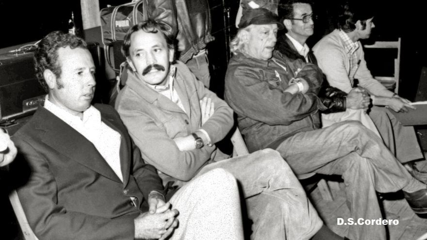 Rafael Alberti en Don Benito con Manuel Paredes