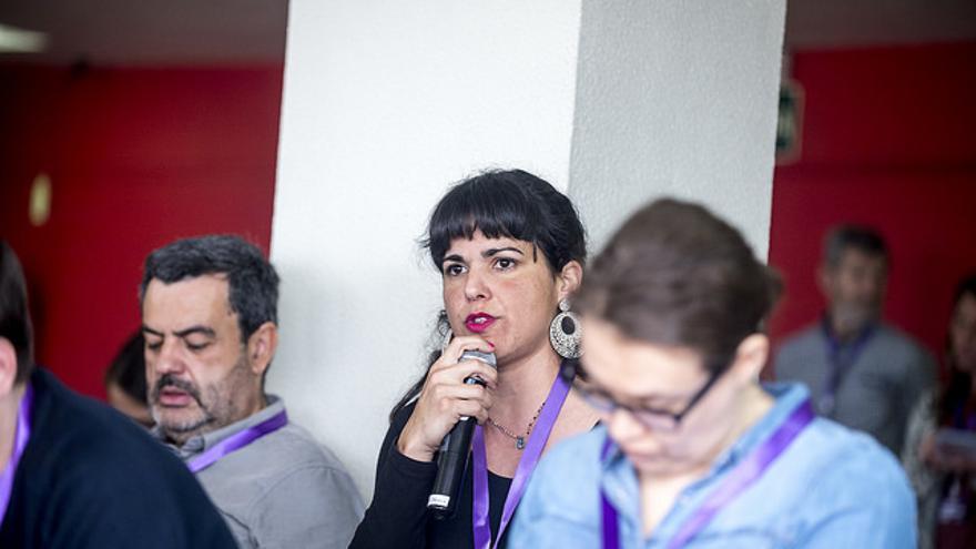 La secretaria general de Podemos Andalucía, Teresa Rodríguez, durante el Consejo Ciudadano del 10 de marzo.