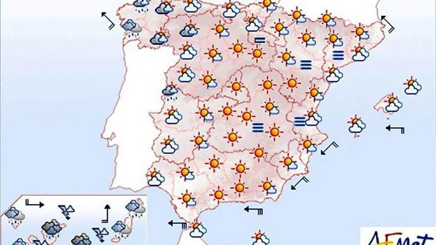 Hoy, precipitaciones fuertes en Canarias