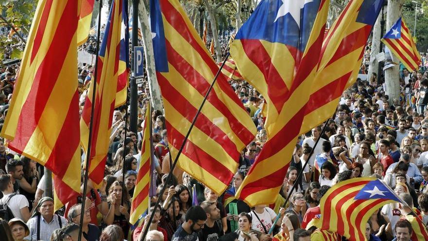 Manifestación independentista en Catalunya