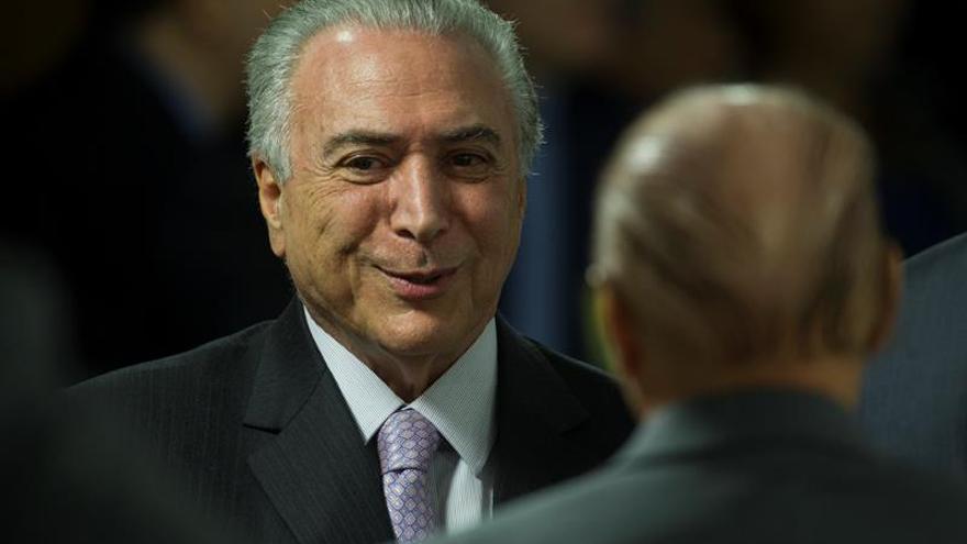 La mayoría de los brasileños reprueba la gestión del presidente Temer, según un sondeo