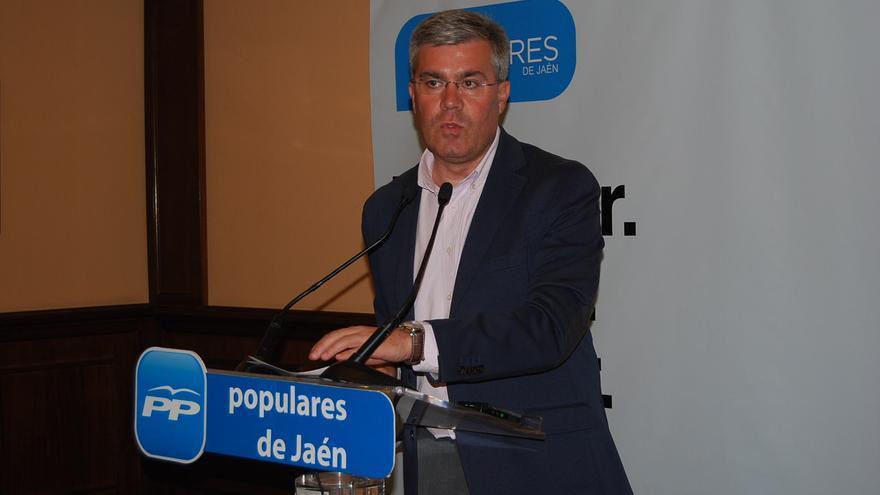 Jose Enrique Fernández de Moya en su comparecencia en la noche electoral.